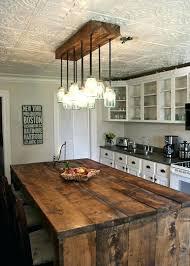 pendant rustic kitchen