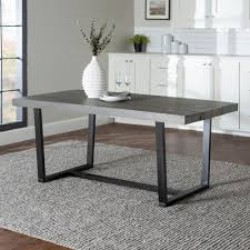 Image Pamono Grey Rustic Farmhouse Industrial Distressed Solid Wood Kitchen Dining Table Home Depot Walker Edison Furniture Company 72 In Grey Rustic Farmhouse