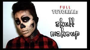 full tutorial easy skull makeup men s makeup you
