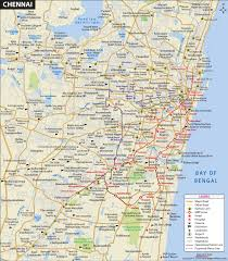 Chennai City Map And Travel Information And Guide
