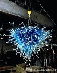 glass chandeliers medusa style blue blown glass chandelier style modern art home decor heart shape hotel