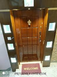 wood hinged designer main door