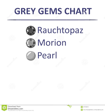 Gems Grey Color Chart Stock Vector Illustration Of Faceted