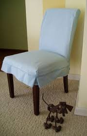 parson chair slipcover blue canvas dining chair by applecatdesigns