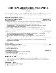 Waitress Resume Example 73 Images Resume Sample Waiter Example