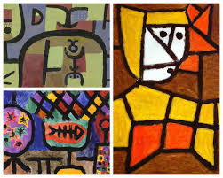 abstract line and colour paintings inspired by paul klee