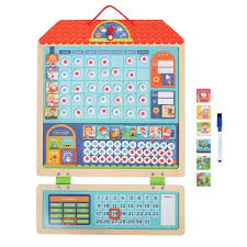 Kid Wooden Magnetic Reward Activity Responsibility Chart Calendar Schedule Educational Learning Toys For Children Target Board