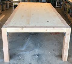 One of the first things to do is to make the supports or legs on which your garden bench would rest. Diy Chunky Modern Dining Table