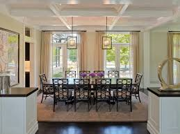 greek key rug dining room victorian with area rug black dining chairs circle coffered
