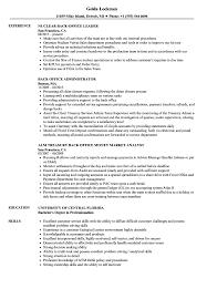 Back Office Resume Samples Velvet Jobs
