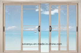 best quality aluminum single sliding glass door in factory