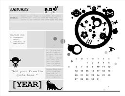 Circle Calendar Template One Month Student Calendar Sunday Start Circle Design