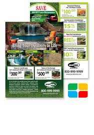 Sample Flyers For Landscaping Business Mulching Print Templates For Landscapers Of Flyer Postcards