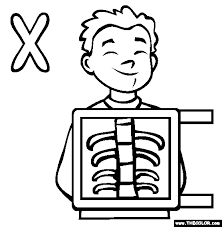 Small Picture X ray coloring page
