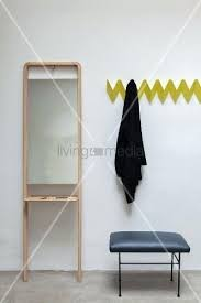 Coat Rack Next Adorable Wall Mounted Coat Rack With Shelf And Mirror Yellow Zigzag Wall