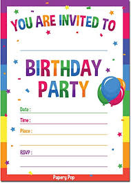 Personal Invitations Birthday Amazon Com 30 Birthday Invitations With Envelopes 30 Pack Kids