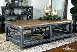 decoration reclaimed wood industrial rustic coffee table cart on iron wheels oversized large black natural