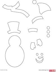 Snowman Template Printable Snowman Pattern Template Printable Snowman Book Template Face