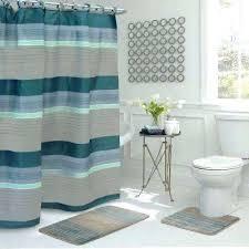 shower curtain set regent stripe in l x in w piece bath rug bathroom shower curtain sets