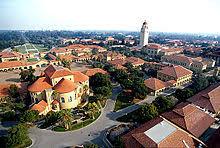 stanford graduate school of business. aerial view of the main quad. stanford graduate school business g