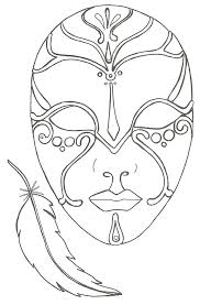 Coloriage Le Masque Et La Plume Clown Kleurplaat Maskers