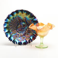 Carnival Glass Patterns Simple Northwood Carnival Glass With Peacock Patterns EBTH