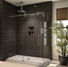 a bold new take on sliding shower door enclosures