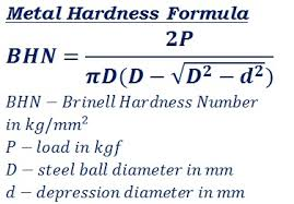 Metal Hardness Bhn Calculator