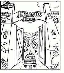 Feel free to print and color from the best 40+ jurassic world coloring pages at getcolorings.com. Jurassic Park Coloring Pages Com Jurassic Park Gate Jurassic Park Tattoo Jurassic Park