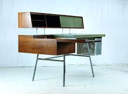 herman miller home office. Herman Miller Desk Used Miraculous Home Office Model Walnut Leather Chrome Plated Steel Perforated Aluminum Features