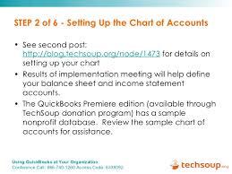 Sample Chart Of Accounts For Non Profit Organizations Quick Books Webinar