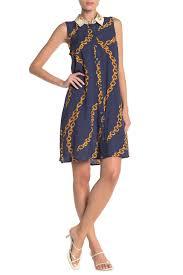 Msk Dresses Size Chart Msk Baroque Chain Print Shirt Dress Nordstrom Rack