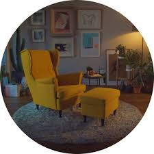 cozy office planner design ikea reality. IKEA STRANDMON Armchair And Footstool In Yellow Shown A Cosy Living Room  Setting. Cozy Office Planner Design Ikea Reality S