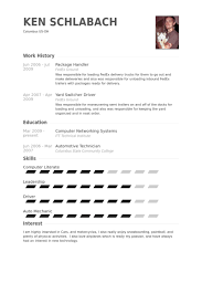 Package Handler Resume samples