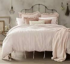wamsutta vintage washed linen standard pillow sham in blush pink rare from wamsutta