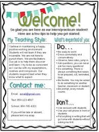 Editable Student Teacher Intern Welcome Letter