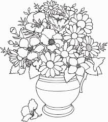 Bouquet Of Flowers Coloring Pages For Childrens Printable Free And ...