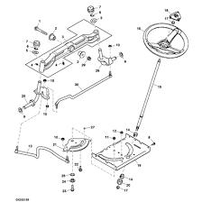 john deere d130 lawn tractor parts john deere d100 series steering parts diagram sn post 700000
