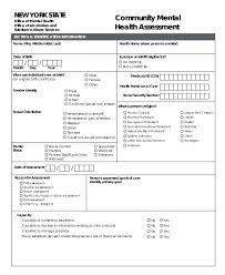 Fitness Assessment Form Stunning Mental Health Assessment Template Health Assessments Templates