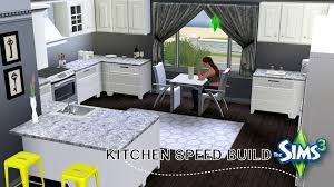 Sims Kitchen The Sims 3 Modern Beach House Speed Build Part 2 The Kitchen