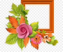 Paper Flower Frame Paper Flower Picture Frames Floral Design Acuarela Png Download