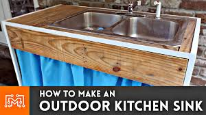 outdoor kitchen sink woodworking metalworking sewing how to you