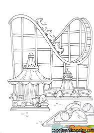 Amusement Park Coloring Pages Coloring And Coloring Amusement Park