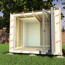building a garden office. The Breather Membrane Is A Key Aspect Of Garden Offices Construction Building Office