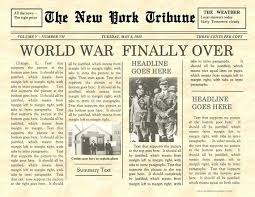 Fake Newspaper Template Word Front Page Of Newspaper Template Stagingusasport Info