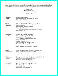 College Resume Examples 650841 Students Resume Format College