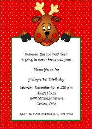 Christmas Birthday Party Invitations Birthday Invitation Christmas Theme Fun For Christmas Halloween