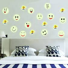 face wall decals luminous cartoon smiling face decals wall ceiling glow in  the dark luminous cartoon