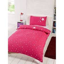 glow in the dark single duvet set pink bedding sets