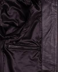black corbani genuine mens urban racer leather jacket